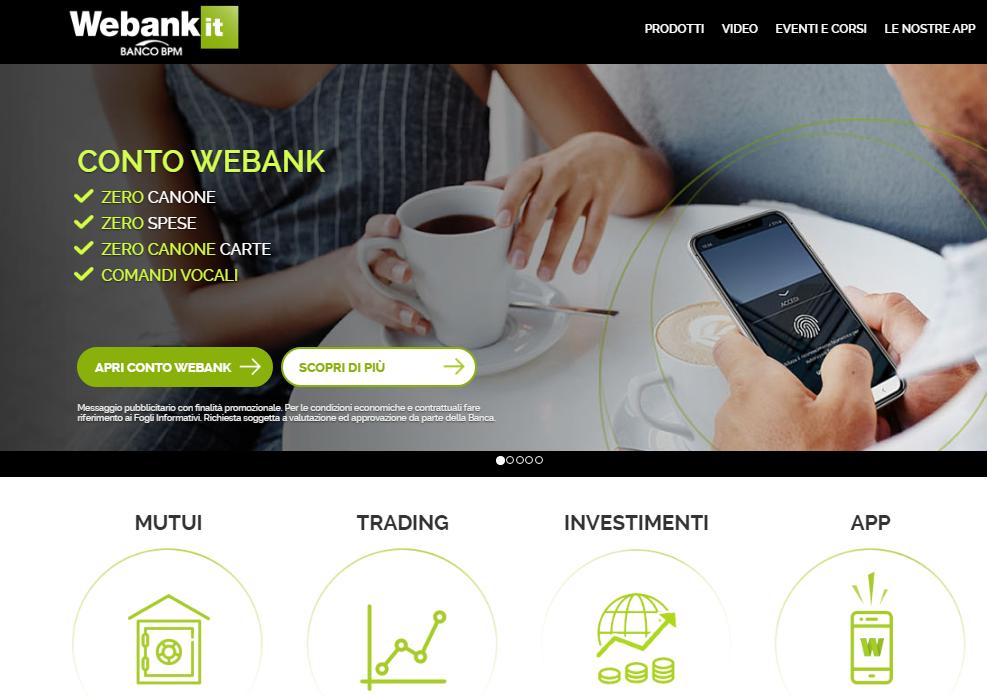 we bank conto